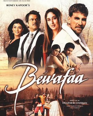 Poster Of Bollywood Movie Bewafaa (2005) 300MB Compressed Small Size Pc Movie Free Download worldfree4u.com