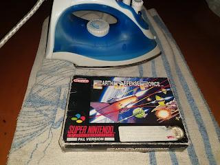 restauracion juego super nintendo caja carton