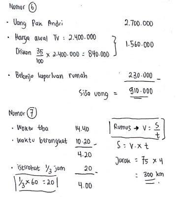 Contoh Soal Psikotes Matematika dan Jawabannya 5