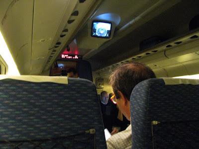 interior de um trem em Portugal