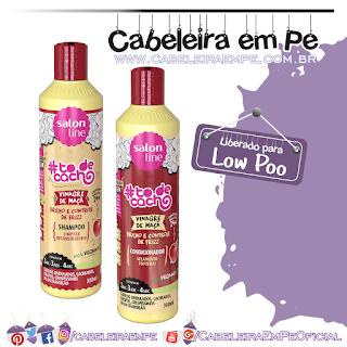 Shampoo e Condicionador Vinagre de Maça Tô de Cacho - Salon Line (Low Poo)