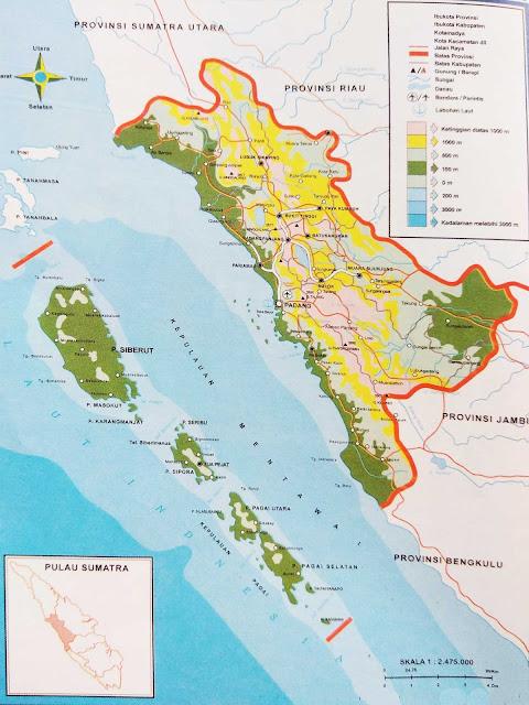 Gambar Peta Provinsi Sumatra Barat