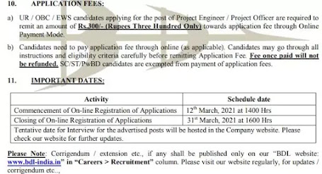 Application Fees & Direct Link To Apply Online: