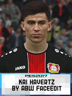 Face can be used for Pro Evolution Soccer  Update, PES 2017 Faces Kai Havertz by ABW_FaceEdit