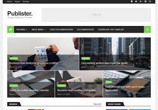 Publisher Blogger Template Free Download