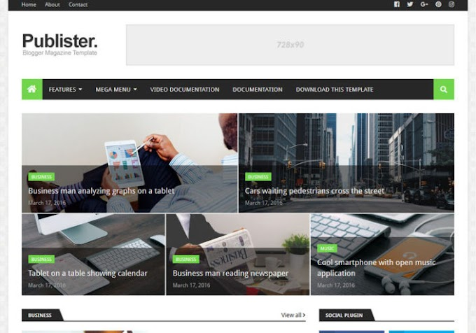 Publister Blogger Template Free Download | publister Blogger Theme Download