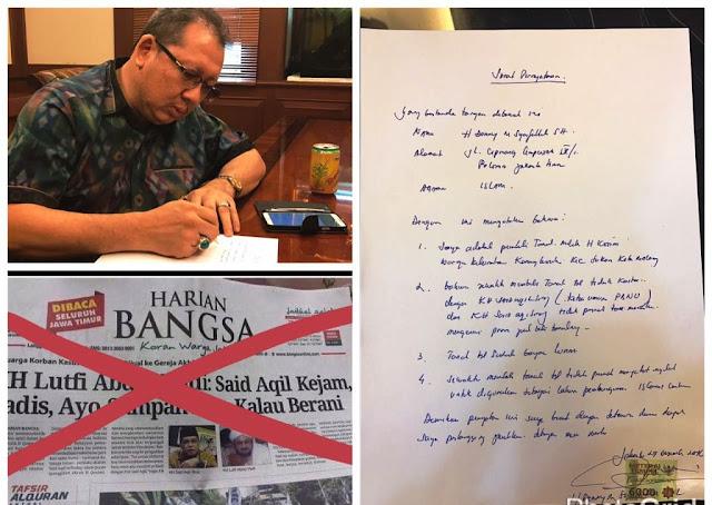 Seribu Persen Fitnah dan Dusta Kiai Said Makelari Tanah di Malang