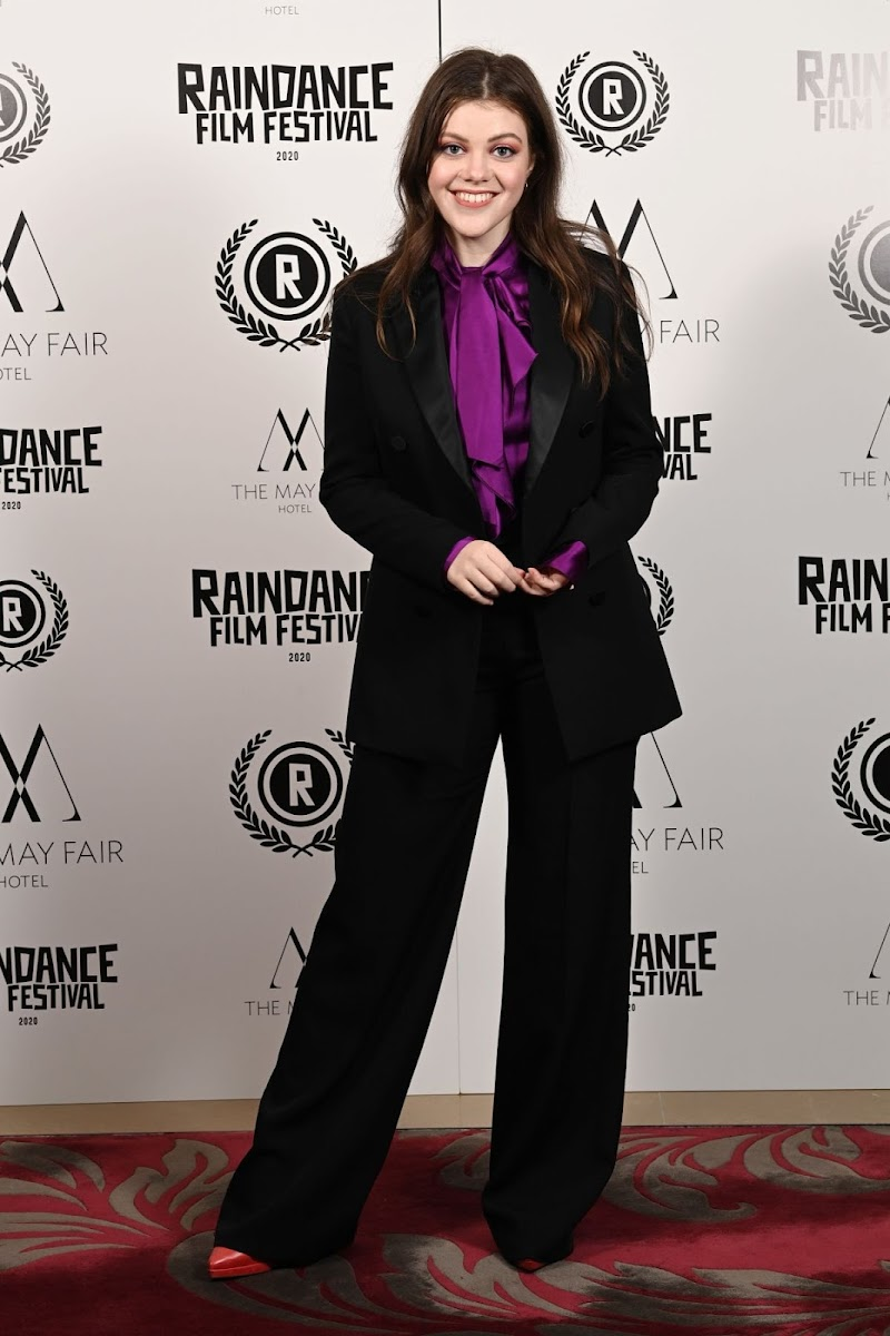 Georgie Henley clicks at Stardust Premiere at 28th Raindance Film Festival in London 28 Oct -2020