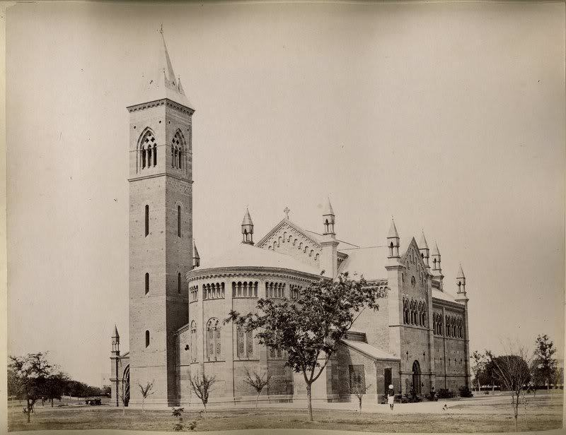 Cawnpore (Kanpur) Memorial Church and Well - India 1880's