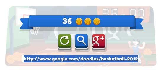 1b36809fbf20 Google Doodle Basketball 2012 Cheat for 100 Points and 3 Stars Everytime