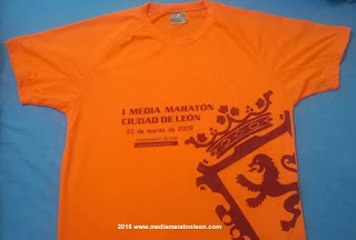 Camiseta primera media maraton de leon 2009