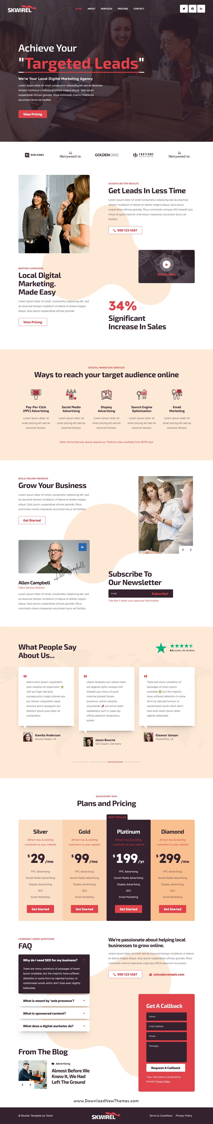 High Conversion Marketing Landing Page Template