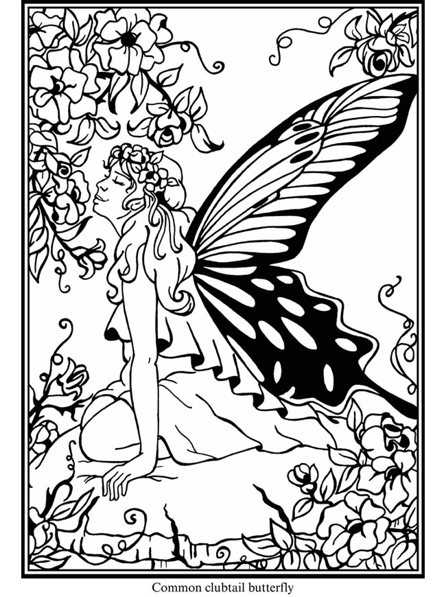 garden pixie coloring pages-#33