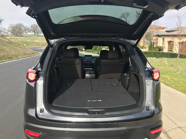 Rear hatch open on 2020 Mazda CX-9