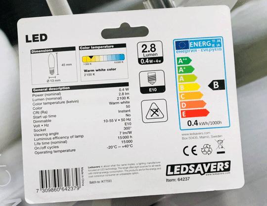 Bästa led-lampan till adventsljusstaken