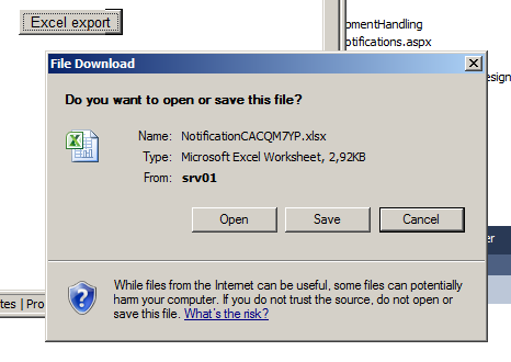 asp.net download xlsx file from server
