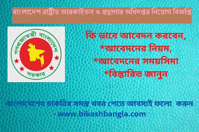 বাংলাদেশ রাষ্ট্রীয় আরকাইভস ও গ্রন্থাগার অধিদপ্তর নিয়োগ বিজ্ঞপ্তি ২০২১ - NANL JOB CIRCULAR 2021