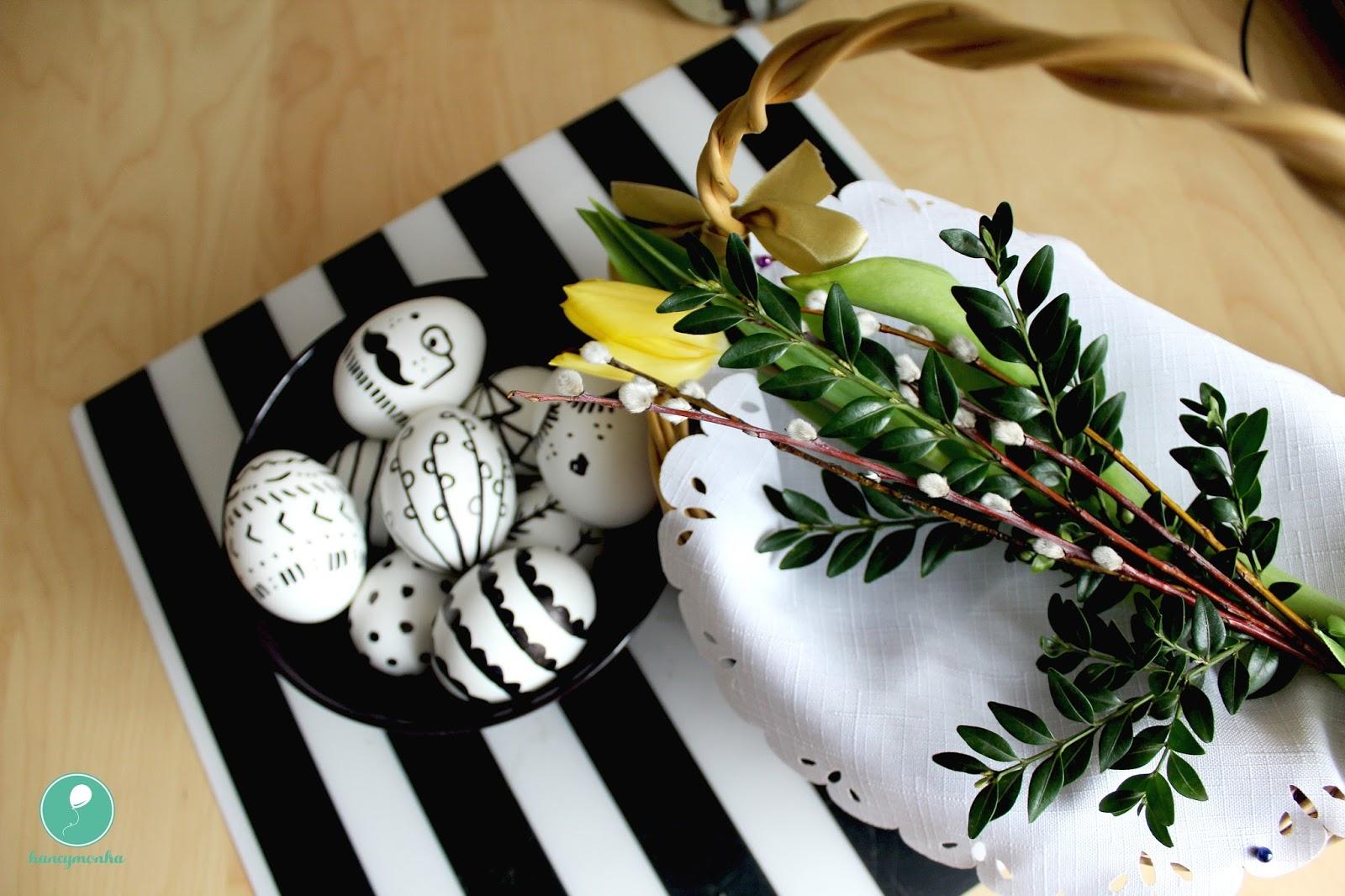 wielkanoc, easter, ozdoby, dekoracje wielkanocne, hancymonka, bazie, tulipany, homedecor, easter decorations
