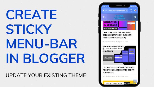 sticky menu bar in blogger