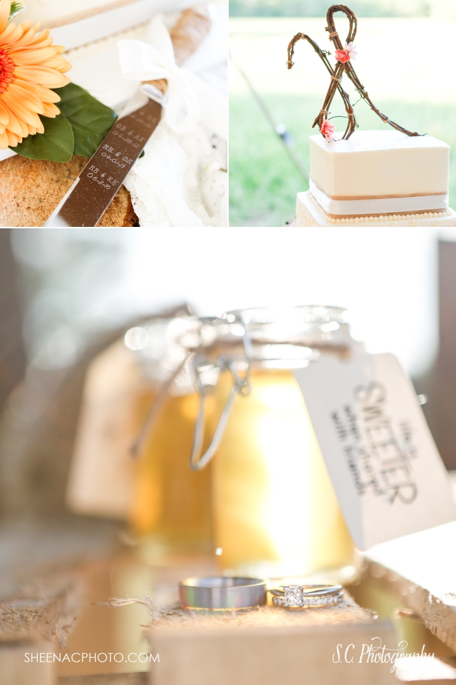 honey wedding rings, cake cutter heirloom