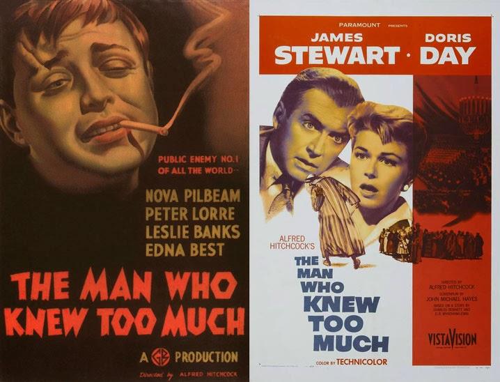 Αφίσες για τις δύο εκδοχές του The Man Who Knew Too Much