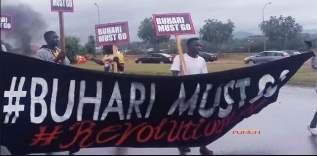 Youth Protest In Abuja To Celebrate Nigeria Independence, Called Buhari Must Go.