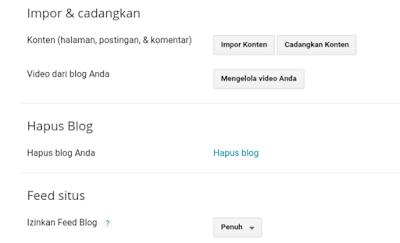 menghapus blog di blogger