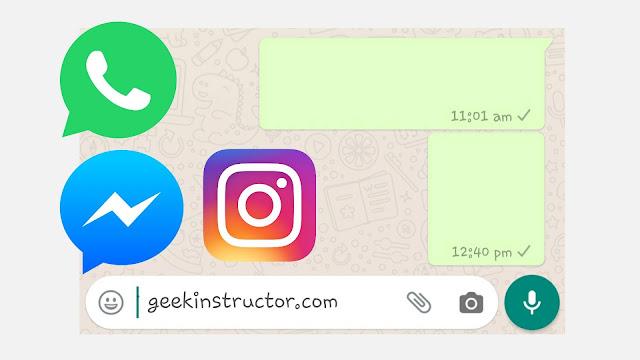 Send empty message on WhatsApp, Facebook, Instagram