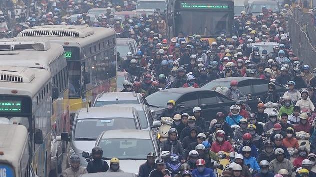 hiện tượng ùn tắt giao thông làm ô nhiễm bầu không khí