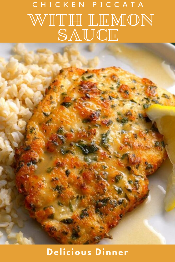 #Yummy #Chicken #Piccata #with #Lemon #Sauce #dinner