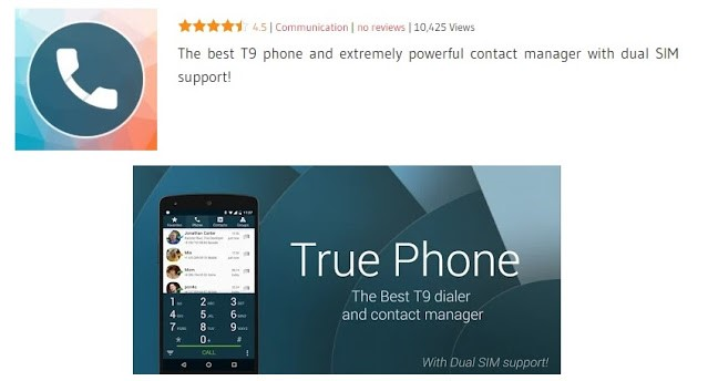 TruePhone Dialer and Contacts