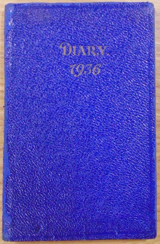 Blue diary - cover (National Archives KV 2/27)