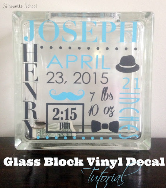 Silhouette Cameo, vinyl glass blocks, Silhouette tutorial