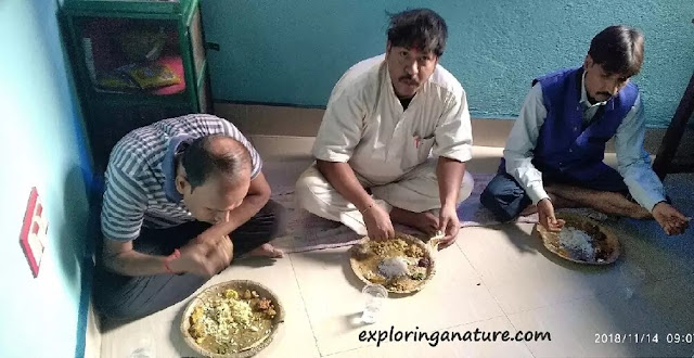 Devotee getting a Chhath Puja Prasaad at home