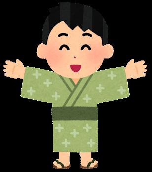 浴衣を着た男の子のイラスト2
