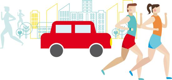 Correr entre coches, Guía para el runner peatón y el automovilista responsable