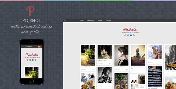 Template PicShots - Responsive Blogger Template Blogging