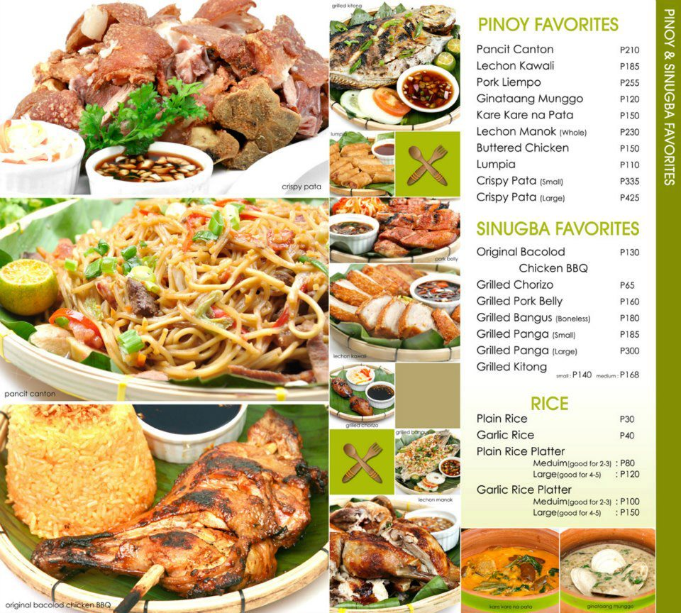 Lantaw Native Restaurant Busay Menu Prices