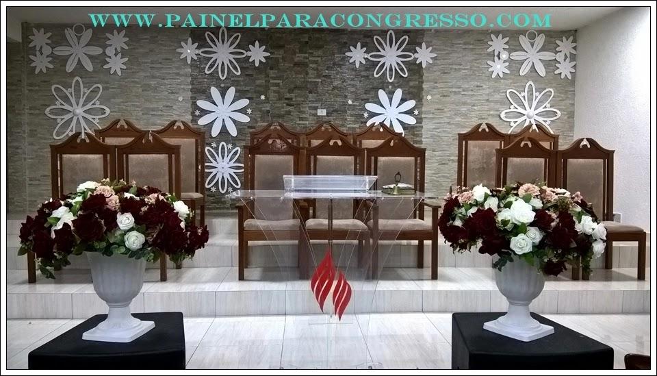 Decoração do púlpito para igreja evangélica