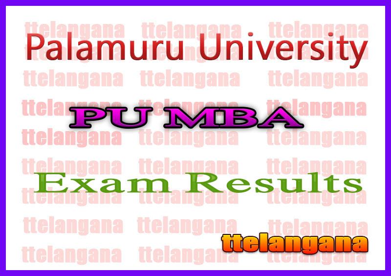 Palamuru University MBA 2nd Sem Regular Supply Exam Results