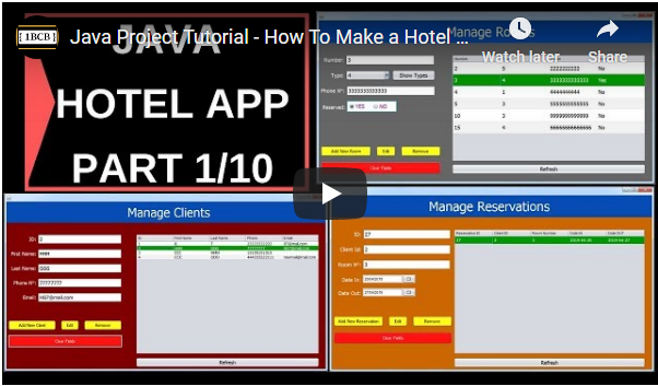 Java Hotel Management System Source Code