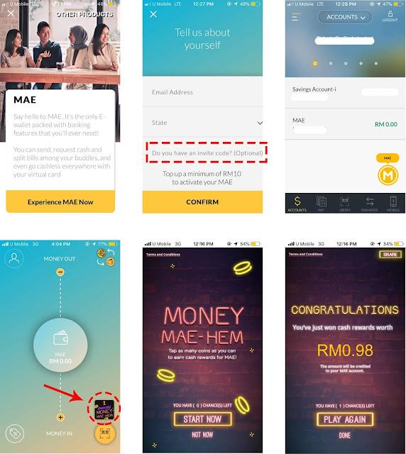 Kumpul Duit Percuma Dengan Permainan Di MAE (e-Wallet) Di Aplikasi Maybank2u