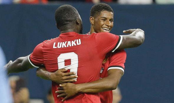 Romelu Lukaku and Marcus Rashford