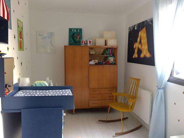 Chambre décoration bébé garçon Achille lit BONTON