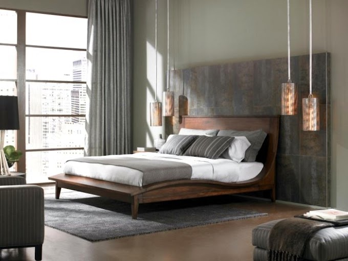 ديكورات غرف نوم باللون الرمادي