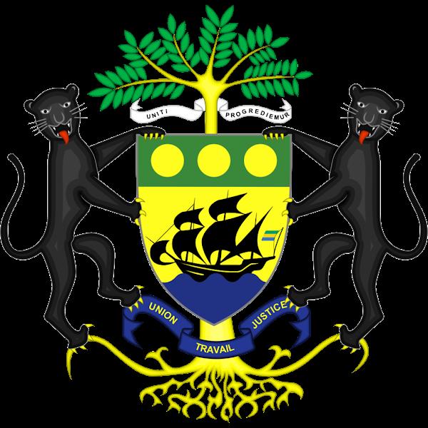 Logo Gambar Lambang Simbol Negara Gabon PNG JPG ukuran 600 px