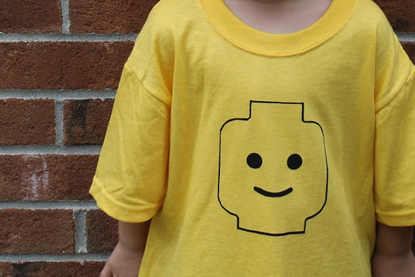 Lego minifigure head t shirt diy