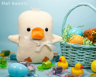 Flat-Bonnie-Easter-Bunny-Adopt-A-Plush-Baby-Duck-Duckling