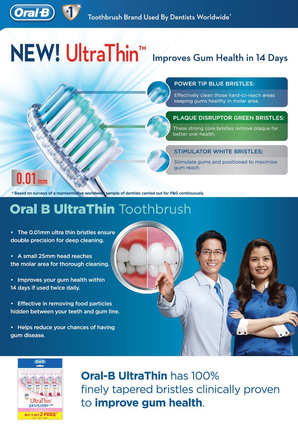 Giveaway*~ Oral-B Ultra Thin Toothbrush ~ BIJINBLAIR ~♥