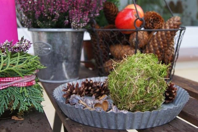 Filz und garten gartenblog resteverwertung - Gartentisch deko ...